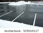 empty parking lot with snow... | Shutterstock . vector #525010117