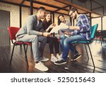 group of young business people... | Shutterstock . vector #525015643