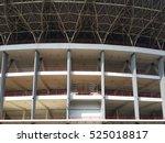 Small photo of Jakarta, Indonesia - Circa August, 2016: Gelora Bung Karno Stadium exterior in detail.