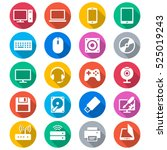 computer flat color icons | Shutterstock .eps vector #525019243