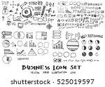 business arrow bubble set... | Shutterstock .eps vector #525019597