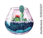 watercolor illustration.... | Shutterstock . vector #525024337