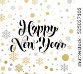 vector greeting for happy new... | Shutterstock .eps vector #525027103
