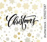 vector christmas winter pattern ... | Shutterstock .eps vector #525027187