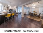 luxury modern kitchen and... | Shutterstock . vector #525027853