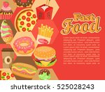 fast food template with... | Shutterstock .eps vector #525028243