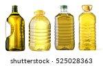 bottle oil plastic big on white ... | Shutterstock . vector #525028363