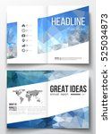 set of business templates for... | Shutterstock .eps vector #525034873