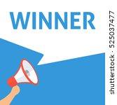 winner announcement. hand...   Shutterstock .eps vector #525037477