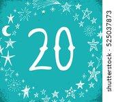 christmas advent calendar set....   Shutterstock .eps vector #525037873