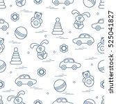 vector pattern of different... | Shutterstock .eps vector #525041827