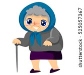 illustration of a grandmother... | Shutterstock .eps vector #525057367