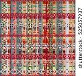 boho style. ethnic seamless... | Shutterstock .eps vector #525057937