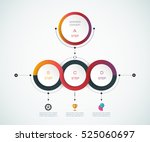 vector infographics design... | Shutterstock .eps vector #525060697
