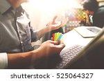 co worker process  entrepreneur ... | Shutterstock . vector #525064327
