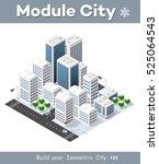 3d cityscape city street public ... | Shutterstock .eps vector #525064543