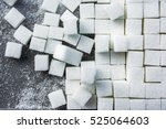 background of sugar cubes.cube... | Shutterstock . vector #525064603