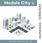 3d cityscape city street public ... | Shutterstock .eps vector #525067693
