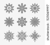Set Of Various Snowflakes
