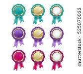 set of bright shiny badges | Shutterstock .eps vector #525070033