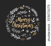 merry christmas. christmas... | Shutterstock .eps vector #525073273