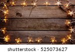old wooden rustic christmas... | Shutterstock . vector #525073627