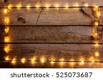 old wooden rustic christmas... | Shutterstock . vector #525073687