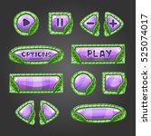 cartoon lilac buttons with...