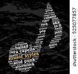 music styles. word cloud ... | Shutterstock .eps vector #525077857