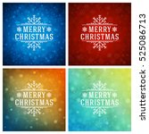 christmas greeting cards... | Shutterstock .eps vector #525086713