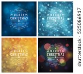 christmas greeting cards... | Shutterstock .eps vector #525086917