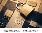 security lock on credit cards   ...   Shutterstock . vector #525087607