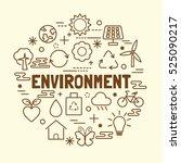 environment minimal thin line... | Shutterstock .eps vector #525090217