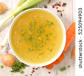 broth with ingredient | Shutterstock . vector #525094903