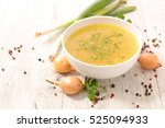 broth with ingredient | Shutterstock . vector #525094933