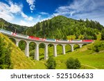 train on famous landwasser... | Shutterstock . vector #525106633