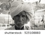 old indian man wearing a white... | Shutterstock . vector #525108883