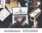 real estate property working... | Shutterstock . vector #525110203
