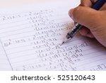 doing difficult math homework   ... | Shutterstock . vector #525120643