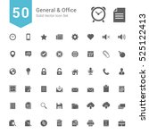 general and office icon set. 50 ... | Shutterstock .eps vector #525122413