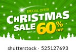 christmas sale special offer... | Shutterstock .eps vector #525127693