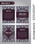 tribal mandala design set.... | Shutterstock .eps vector #525135247