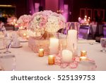 lighted white candles stand...   Shutterstock . vector #525139753
