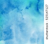 watercolor blue background with ... | Shutterstock . vector #525147127