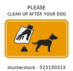 sign template   please clean up ... | Shutterstock .eps vector #525150313