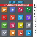 shopping bascket web icons in... | Shutterstock .eps vector #525151273