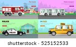 transport. collection of four... | Shutterstock .eps vector #525152533