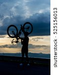 silhouette a man in action... | Shutterstock . vector #525156013