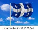 canadian provincial flag  qc... | Shutterstock . vector #525165667