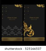 wedding invitation cards set... | Shutterstock .eps vector #525166537